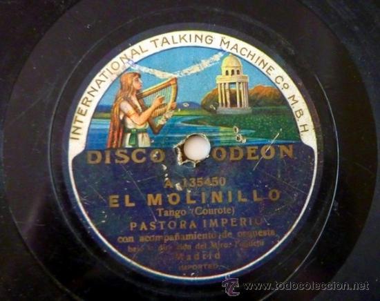 Discos de pizarra: Pastora Imperio. Disco de pizarra 78 RPM. Disco Odeon. - Foto 4 - 33080609