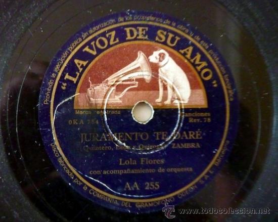 Discos de pizarra: Lola Flores. Disco de pizarra 78 RPM. La voz de su amo. - Foto 2 - 33080880