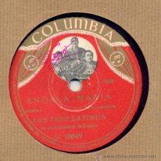 Discos de pizarra: LOS TRES LATINOS: ANGELA MARIA + LAS OSCURAS GOLONDRINAS. Lote 33107054