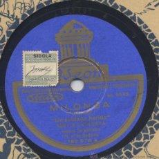 Discos de pizarra: NIÑO DE LA HUERTA MILONGA Y FANDAGOS MANOLO BADAJOZ 1929. Lote 33258495
