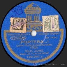 Discos de pizarra: CELIA GÁMEZ / CELIA Y CORA GÁMEZ - ¡PORTERA...! / CHIQUILLO MÍO - PIZARRA ODEON - 183.360 - A15-8. Lote 33371990