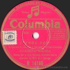 Discos de pizarra: JUANITA REINA - ¡TENGO SED! / NI HABLAR DEL PELUQUÍN - PIZARRA COLUMBIA - R 14188 - ESPAÑA. Lote 33378952
