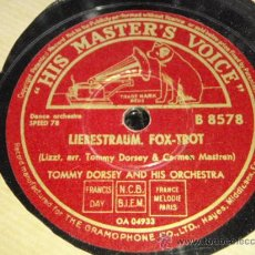 Discos de pizarra: TOMMY DORSEY & HIS ORCHESTRA ( LIEBESTRAUM - MELODY IN F. ) FOXTROTS ENGLAND HMV. Lote 33447353