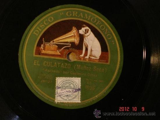 CASIMIRO ORTAS - EL CULATAZO (261127) / LAS PLANCHAS DE RENDUELEZ (261128) - LA VOZ DE SU AMO AE1806 (Música - Discos - Pizarra - Bandas Sonoras y Actores )
