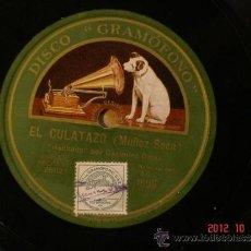 Discos de pizarra: CASIMIRO ORTAS - EL CULATAZO (261127) / LAS PLANCHAS DE RENDUELEZ (261128) - LA VOZ DE SU AMO AE1806. Lote 33667811