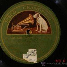 Discos de pizarra: CASIMIRO ORTAS - EL SACAMUELAS (261131) / HAY QUE VER LAS BRONCAS DE GENARO Y SU MUJER (261132). Lote 33667827