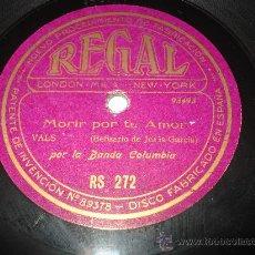 Discos de pizarra: DISCO PIZARRA MORIR POR TU AMOR Y CHICLANERO CHICO BANDA POLICIA MEXICO Y BANDA COLUMBIA . Lote 33841603