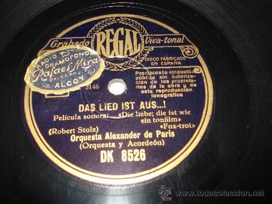 Discos de pizarra: Disco de Pizarra Todo Ha Terminado VALS ** ORQUESTA ALEXANDER DE PARIS ** - Foto 3 - 33841308