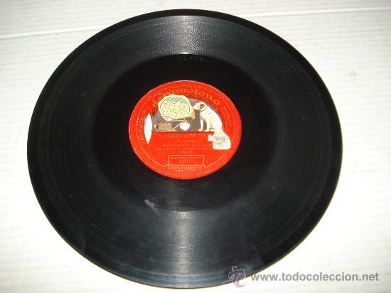 DISCO DE PIZARRA DE UNA SOLA CARA RIGOLETTO ** MARIA GALVANY ** (Música - Discos - Pizarra - Bandas Sonoras y Actores )