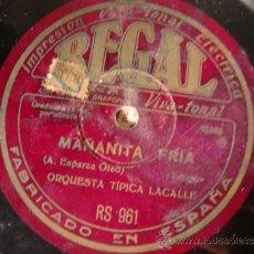 Discos de pizarra: ANTIGUO DISCO DE GRAMOFONO O GRAMOLA REALIZADO EN PIZARRA.. Lote 34094111