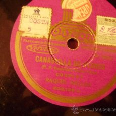 Discos de pizarra: RAQUEL MELLER.DISCO PIZARRA ODEON.CANASTILLA DE ROSAS Y PRIETITA MIA. Lote 34157835