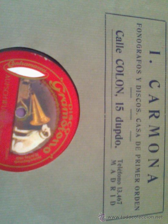 Discos de pizarra: DISCO DE PIZARRA LA VOZ DE SU AMO - Foto 3 - 34312459