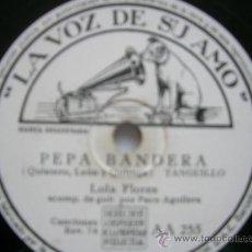 Discos de pizarra: LOLA FLORES. PEPA BANDERA - JURAMENTO TE DARE (PIZARRA). Lote 34499643