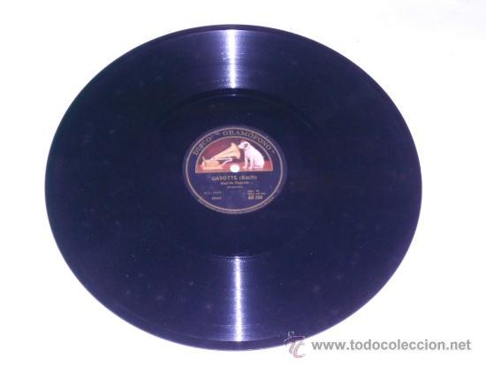 ANDRES SEGOVIA, DISCO PIZARRA LA VOZ DE SU AMO . GAVOTTE, THEME VARIE (SOR) (Música - Discos - Pizarra - Flamenco, Canción española y Cuplé)