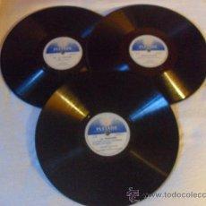 Discos de pizarra: 3 DISCOS 78 RPM POESIA FRANCESA. DISQUES PLEIADE. Lote 34526266