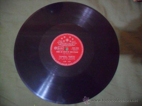 JACQUELINE FRANÇOIS. VIENS AU CREUX DE MON EPAULE / TOI, DISQUES POLYDOR (Música - Discos - Pizarra - Solistas Melódicos y Bailables)