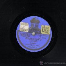 Discos de pizarra: DISCO DE PIZARRA 25 CM, ODEON.SCHOTIS, ORGANILLO CASALI. . Lote 39915233
