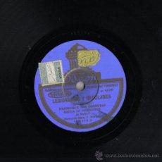 Discos de pizarra: DISCO DE PIZARRA 25 CM, ODEON., LEGIONARIOS Y REGULARES Y FAGINA, PASODOBLE BANDA DE INGENIEROS. Lote 35554935