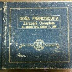 Discos de pizarra: ALBUM DISCO PIZARRA 15 DISCOS DOÑA FRANCISQUITA. Lote 35484284