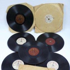 Discos de pizarra: LOTE DE 8 DISCOS PEQUEÑOS, 18,5 CM DE DIÁMETRO, 1930'S. VER FOTO ANEXAS. Lote 35686374