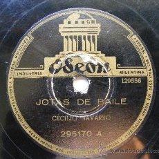 Discos de pizarra: CECILIO NAVARRO ODOEN 295170 78RPM JOTAS DE BAILE / CECILIO Y SU BURRA. Lote 35696350