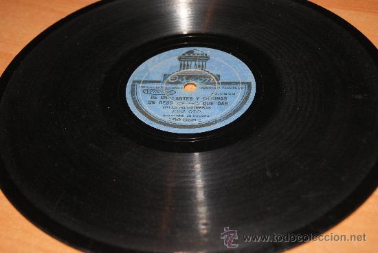 DISCO DE PIZARRA JOTAS ARAGONESAS DE JOSE OTO/RARO (Música - Discos - Pizarra - Flamenco, Canción española y Cuplé)
