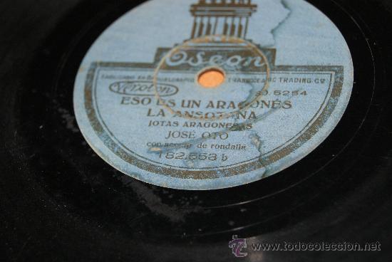 Discos de pizarra: DISCO DE PIZARRA JOTAS ARAGONESAS DE JOSE OTO/RARO - Foto 5 - 35737053
