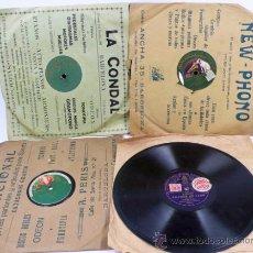 Discos de pizarra: 4 DISCOS DE PIZARRA, CUENTOS, MONÓLOGOS, CÓMICOS, ETC. . 25 CM DIÁMETRO. Lote 35762028