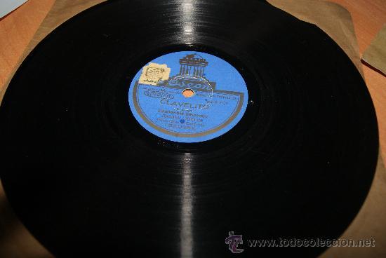 DISCO DE PIZARRA CLAVELITO/PASODOBLE FLAMENCO ) Y BIENVENIDA (Música - Discos - Pizarra - Flamenco, Canción española y Cuplé)