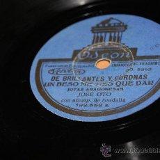 Discos de pizarra: DISCO DE PIZARRA JOTAS ARAGONESAS DE JOSE OTO/RARO. Lote 35785548