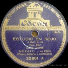 Muraro Y Su Ritmo - Estudio En Rojo / Bem - Te - Vi Atrevido - Pizarra Odeon 22801 - A23-10