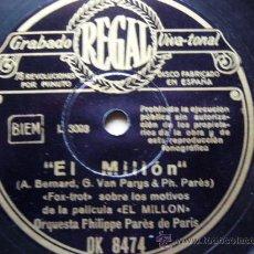 Discos de pizarra: EL MILLÓN - ESTAMOS SOLOS. BANDA SONORA DE LA PELÍCULA. REGAL. OK 8474.. Lote 36105891