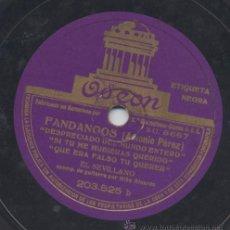Discos de pizarra: 2 DISCO SEVILLANO PIZARRA 1 COLUMBIA 1 ODEON CON NIÑO RICARDO. Lote 36282311