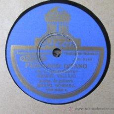 Discos de pizarra: MANUEL VALLEJO - FANDANGO GITANO / FANDANGO NUEVO - DISCO PIZARRA 78 RPM. Lote 36422035