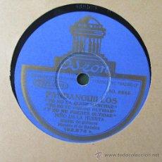 Schellackplatten - NIÑO DE LA HUERTA - FANDANGUILLOS/MILONGA - DISCO PIZARRA 78 RPM - 36422091