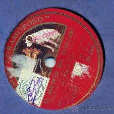 Discos de pizarra: MIGUEL FLETA: EL HUESPED DEL SEVILLANO, ROMANZA + CANCIÓN DE LA ESPADA. Lote 234382855