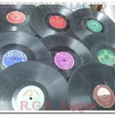 Discos de pizarra: LOTE DE 8 DISCOS DE PIZARRA DE DISTINTOS SELLOS MUSICALES. Lote 36842059