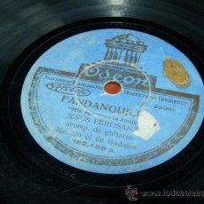"""Discos de pizarra: FANDANGUILLO """"MIS AGRAVIOS LA CONTE"""" JESUS PEROSANZ ACOMP. DE GUITARRA MANOLO EL DE BADAJOZ. Lote 36986147"""