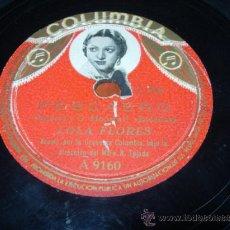 Discos de pizarra: PESCAERO (TENORIO Y G. MONREAL) BULERIAS LOLA FLORES ACOMPAÑADA POR LA ORQUESTA COLUMBIA. Lote 36986762