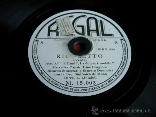 RIGOLETTO (VERDI) ACTO 2º COMPLUTO PER QUANTO (Música - Discos - Pizarra - Clásica, Ópera, Zarzuela y Marchas)