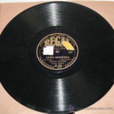 Discos de pizarra: AMALIA MOLINA - CUBA QUERIDA - CUERPO GARBOSO - DISCO DE PIZARRA. Lote 36926590