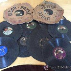 Discos de pizarra: LOTE DE 10 DISCOS DE GRAMÓFONO. VER TÍTULOS Y DETALLES. ¡¡¡CHOLLO!!!. Lote 36950503
