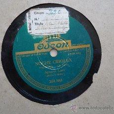Discos de pizarra: DISCO PIZARRA.'LA CLAVE AZUL' - 'NOCHE CRIOLLA' AGUSTIN LARA. Lote 37060550