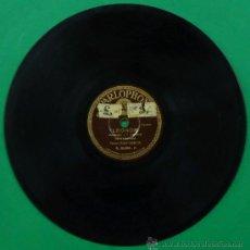Discos de pizarra: DISCO DE PIZARRA. VALS CANTADO, TENOR, JUAN GARCÍA. LEONOR. PARLOPHON.. Lote 37086424