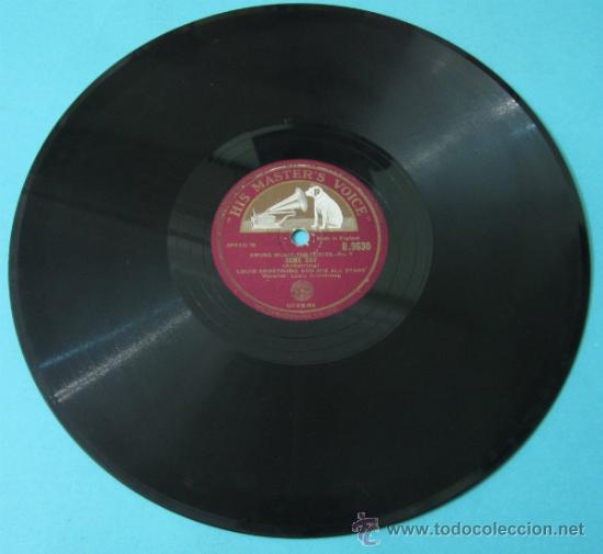 Discos de pizarra: LOUIS ARMSTRONG AND HIS ALL STARS. FIFTY - FIFTY BLUES / SOME DAY. HIS MASTERS VOICE. B.9630 - Foto 2 - 37272472