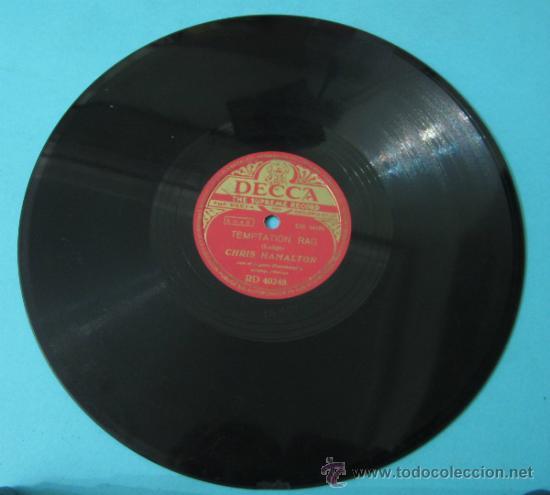 Discos de pizarra: CHRIS HAMALTON CON EL ORGANO HAMMOND Y ACOMP. RÍTMICO. TEMPTATION RAG / LOS BLUES EN LA NOCHE - Foto 2 - 37272743
