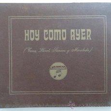 Discos de pizarra: DISCO PIZARRA.ALBUM 4 DISCOS.'HOY COMO AYER' CELIA GAMEZ CARLOS CASARAVILLA, J.LUIS OZORES. Lote 37269832