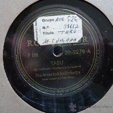 Discos de pizarra: DISCO PIZARRA.'LA CUMPARSITA'-'TABU' DESI ARNAZ AND HIS ORCHESTRA. Lote 37274537