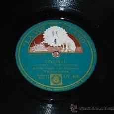 Discos de pizarra: ANTIGUO DISCO DE PIZARRA XAVIER CUGAT Y SU ORQUESTA, ZOMBIE-ELUBE CHANGO. GY 460. ED. LA VOZ DE SU A. Lote 37311322