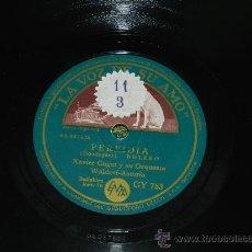 Discos de pizarra: ANTIGUO DISCO DE PIZARRA XAVIER CUGAT Y SU ORQUESTA, PERFIDIA, FRENESI, RUMBA Y BOLERO, GY 753. ED. . Lote 77626643